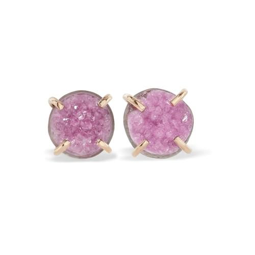 14-karat gold stone earrings