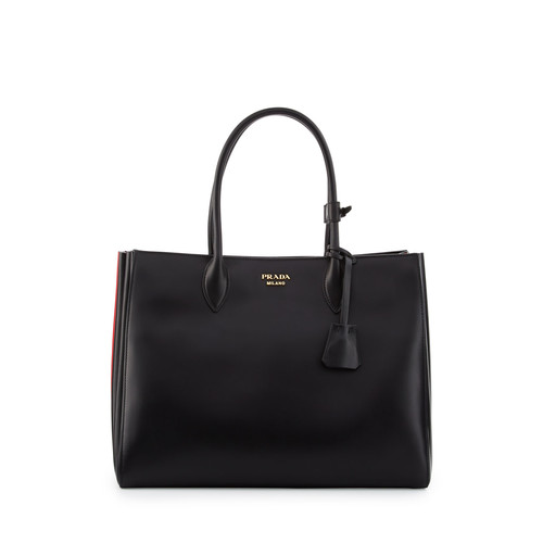 PRADA Bibliothèque Xl Leather Tote Bag