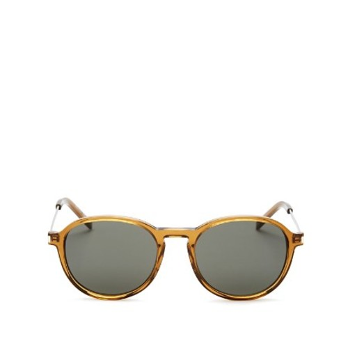 SAINT LAURENT Thin Rounded Pantos Sunglasses, 50Mm