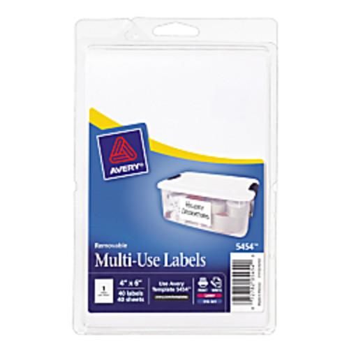 Avery Removable Inkjet/Laser Multipurpose Labels, 4