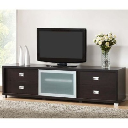 Baxton Studio Bottcelli TV Stand in Dark Brown