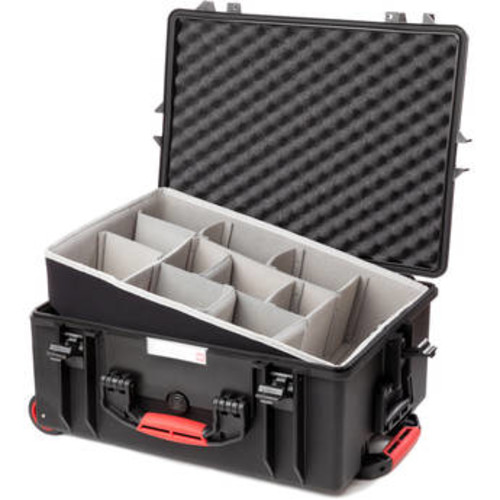 Water-Resistant Hard Case with Second Skin and Built-In Wheels (Black)