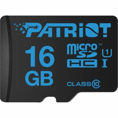 Patriot 16GB UHS-1 Class 10 Micro SDHC Card, Read:70MB/s Write:45MB/s