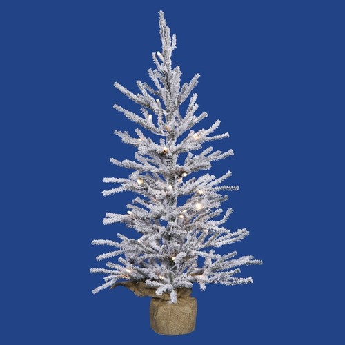 Vickerman Flocked White/Green PVC 24-inch Frosted Angel Pine Artificial Christmas Tree with 35 Warm White LED Lights