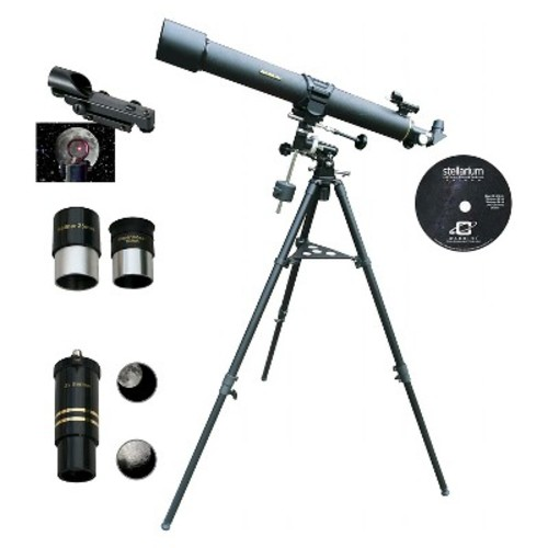 Cassini 900x80 EQ1 Refractor Telescope - Black