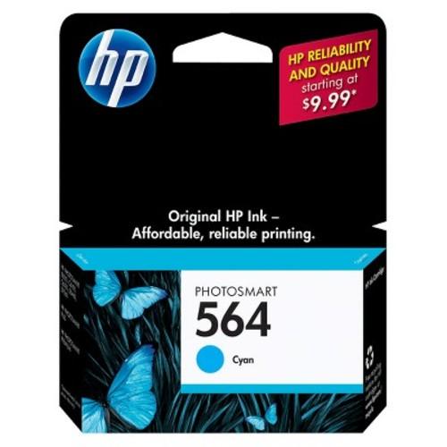 HP 564 Photosmart Single Ink Cartridge - Cyan (CB318WN#140)