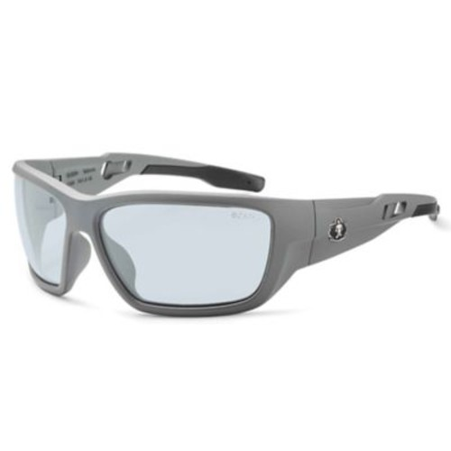 Skullerz BALDR Safety Glasses, In/Outdoor Lens, Matte Gray (57180)