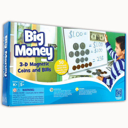 Learning Resources Big Money Magnetic Coins And Bills