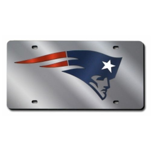 Rico New England Patriots Silver Laser Tag License Plate