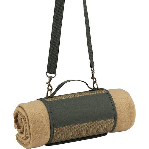 Picnic at Ascot Eco Harness And Fleece Blanket, Natural/Forest Green