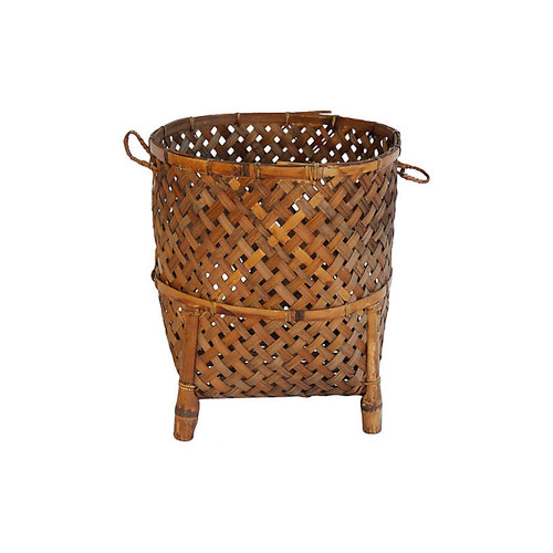 Thai Footed Bamboo Basket