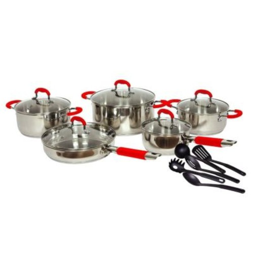 Gourmet Chef Gourmet Chef Classic 2 Stainless Steel 15 Piece Cookware Set