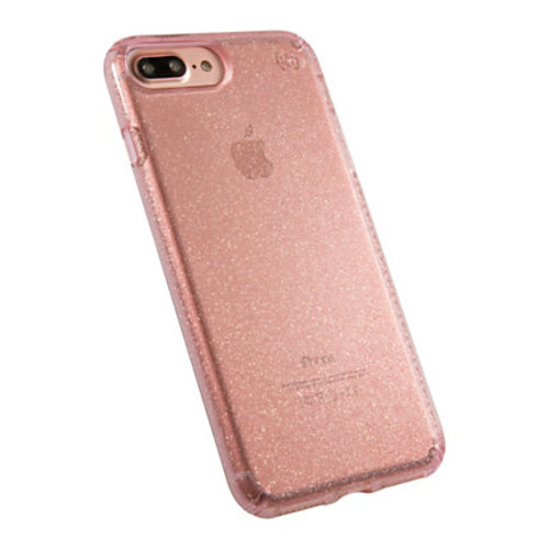 Speck Products Presidio CLEAR Hard Case For iPhone 7 Plus, Gold Glitter/Rose Pink, 79983-5978