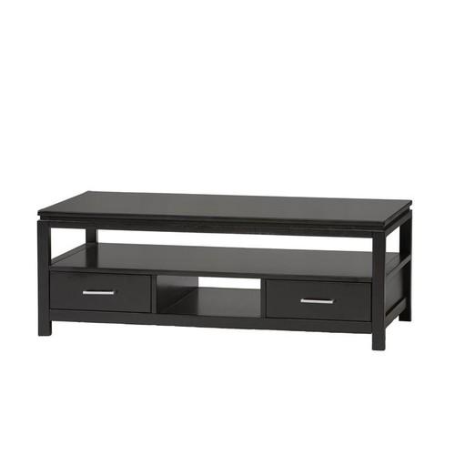 Linon Sutton Black Contemporary Coffee Table [Black, 44 inches]