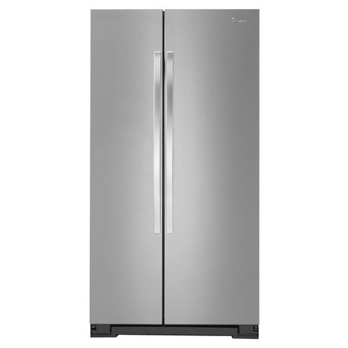 Whirlpool - 21.7 Cu. Ft. Side-by-Side Refrigerator - Stainless steel