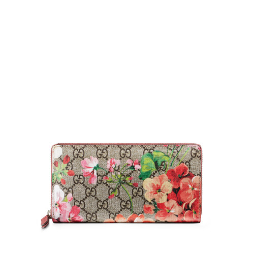 GUCCI Gg Blooms Zip-Around Wallet, Multi Rose