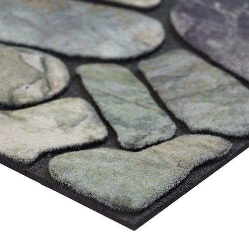 Masterpiece Flagstone Grey Stone Door Mat, 18-Inch by 30-Inch : Welcome Mat : Garden & Outdoor [18-Inch X 30-Inch, Flagstone]
