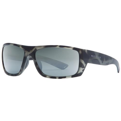 NATIVE EYEWEAR Distiller Sunglasses, Matte Gray Tort/Silver Reflex