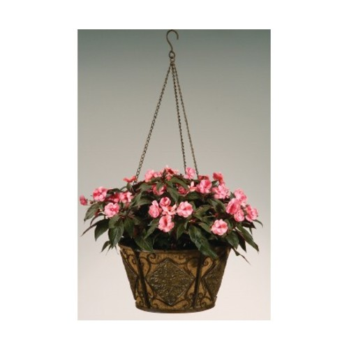 16 in. Metal Hanging Basket with Coco Liner