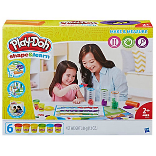 Play-Doh Education Shape And Learn Make And Measure Set, Assorted Colors, Case Of 4 Sets