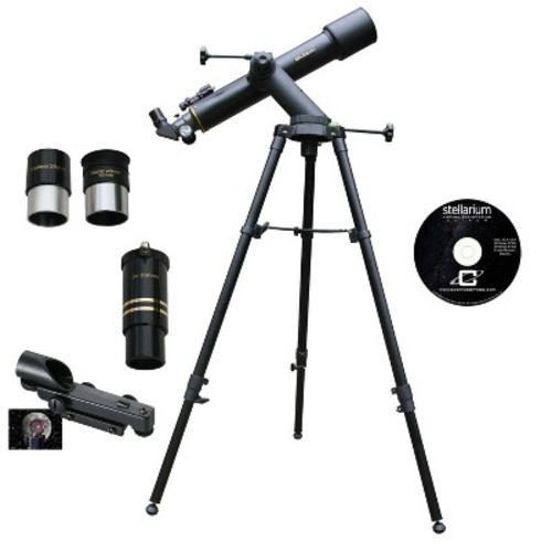 Cassini - Tracker Series 90mm Refractor Telescope - Black