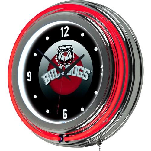 Trademark Global Georgia Bulldogs Honeycomb Neon Clock