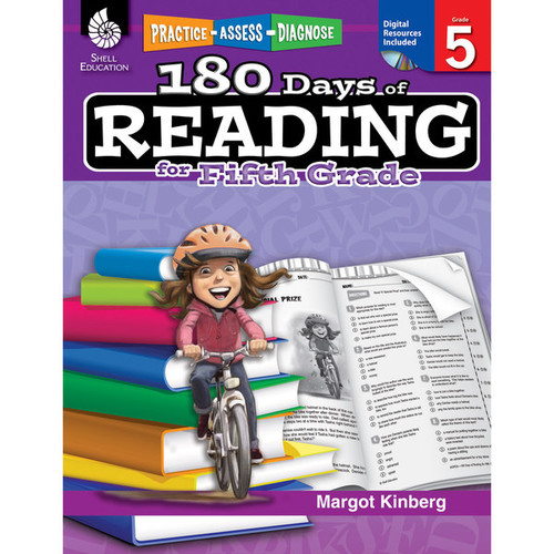Shell Education Learning & Educational Toys 180 Days of Reading Book for Fifth Grade