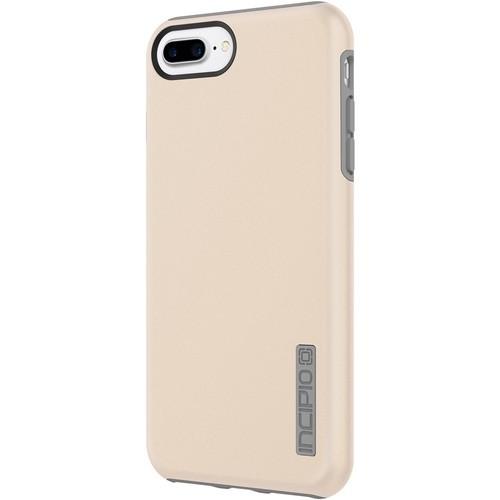 Incipio - DualPro Case for Apple iPhone 7 Plus - Gray/Iridescent champagne