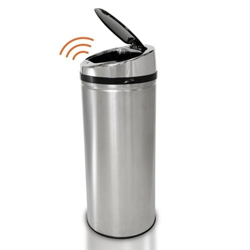 iTouchless Round Stainless Steel Touchless Trash Can : 8 Gallon Round