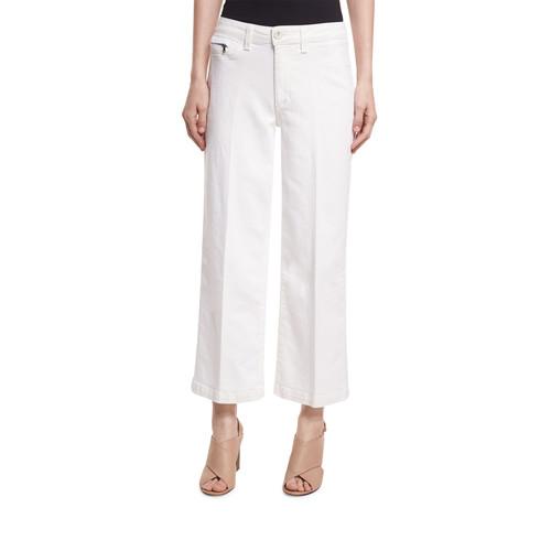 PAIGE DENIM Lori Ankle Jeans W/ Faux Pockets