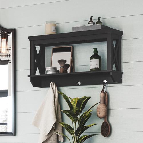 RiverRidge Home X-Frame Bathroom Wall Shelf - Espresso [Espresso]