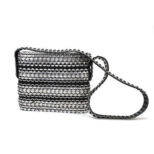 Handmade Soda Pull Tab and Tire Long Strap Cocktail Bag (Mexico)
