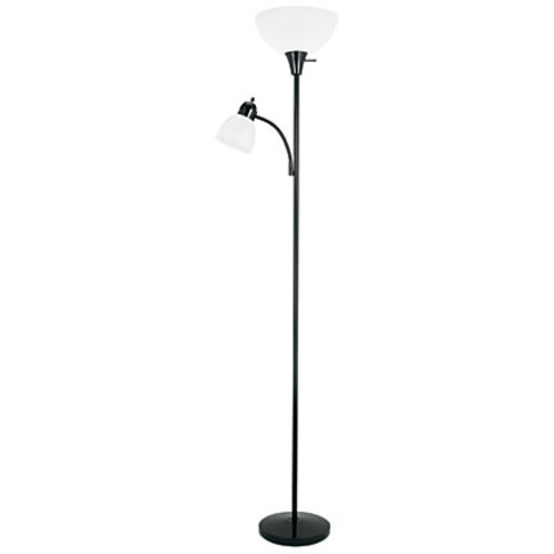 Realspace Floor Lamp And Gooseneck Reading Lamp, 70 1/2