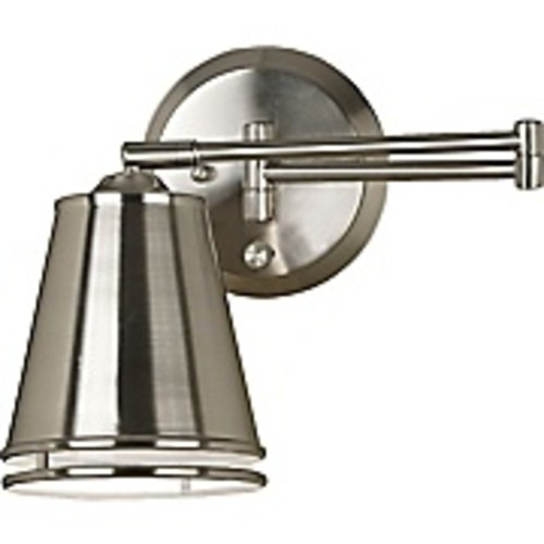Kenroy Home Metro Wall Swing Arm Lamp, Brushed Steel Finish