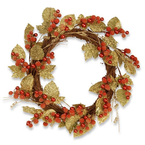 National Tree Company 24 in. Berry/Leaf Vine Wreath