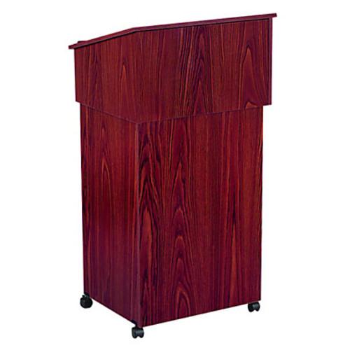 Oklahoma Sound Tabletop Lectern With AV Cart Base, Mahogany