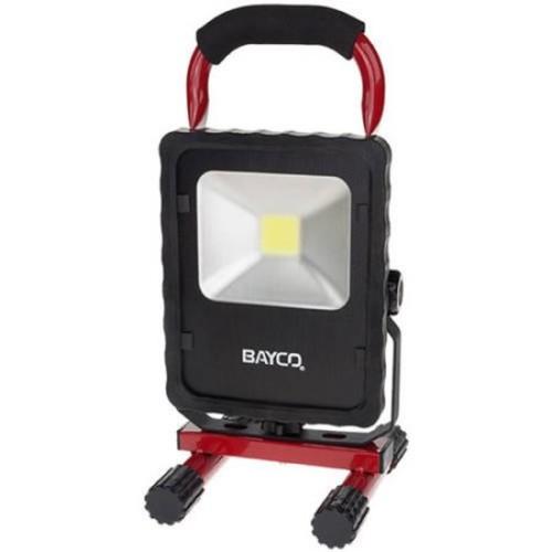 Bayco SL-1512 20W 2200 Lumen LED Single Fixture Work Light, Black/Red SL-1512