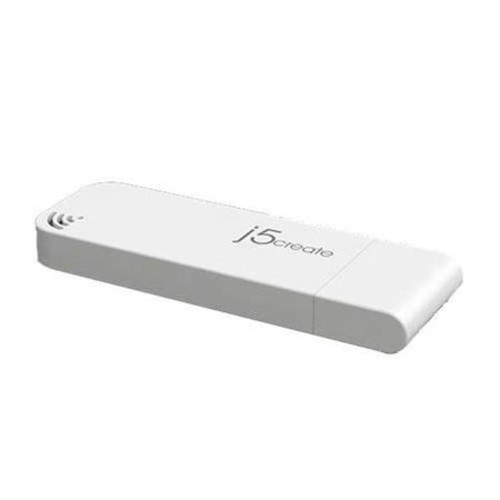 J5Create Dual Band USB Adapter - 2.4GHz Wireless Data, USB 3.0, Connects directly to USB Port, complies with IEEE 802.11n, IEEE 802.11g,IEEE 802.b - JUE304