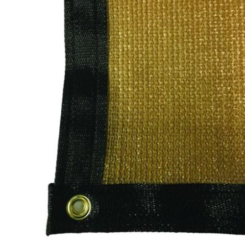 RSI 7.8 ft. x 8 ft. Tan 88% Shade Protection Knitted Privacy Cloth