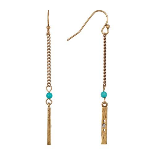 Chain Stick Drop Earrings