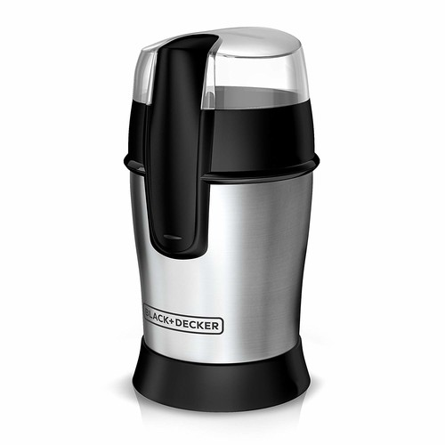 BLACK+DECKER Smartgrind Coffee Grinder, Stainless Steel, CBG100S [White,Stainless]