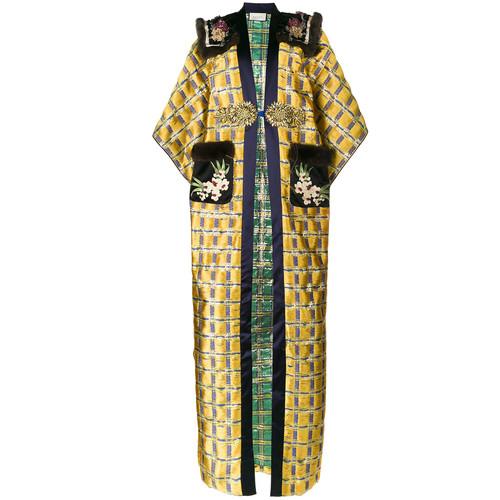 GUCCI Floral Embroidered Kimono Coat