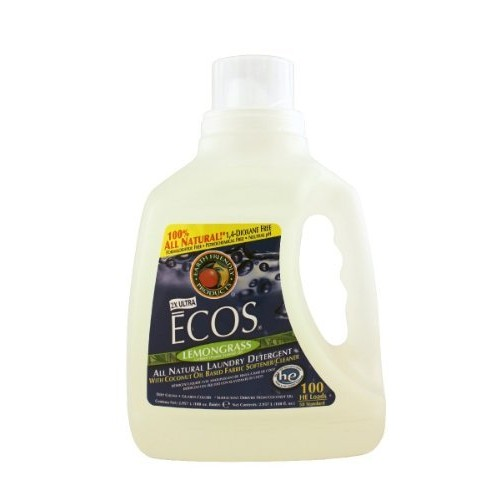 Earth Friendly Products ECOS Liquid Laundry, Lemongrass, 100-Ounce Bottle [lemongrass, 100 FZ]