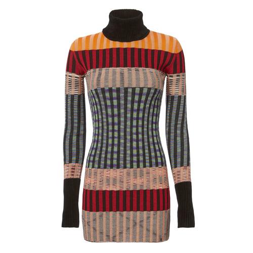 MISSONI Multicolor Turtleneck Mini Dress