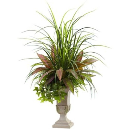 Astoria Grand Mixed Grass, Dracaena, Sage Ivy and Fern Floor Plant in Planter