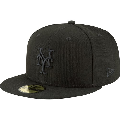Era Men's New York Mets 59Fifty Basic Black Fitted Hat