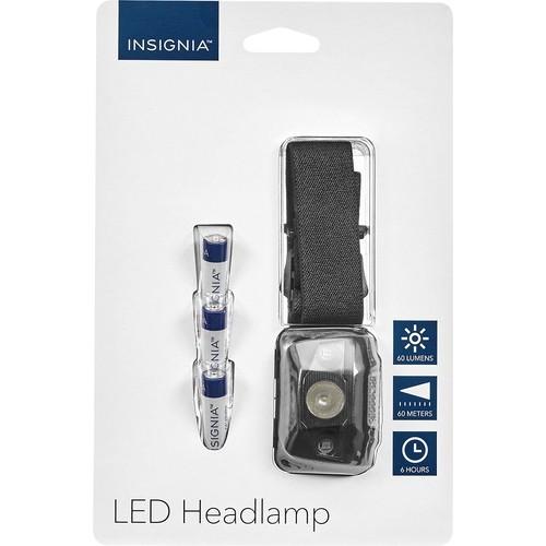 Insignia - LED Headlamp - Black