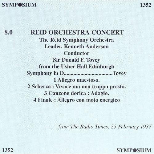 Reid Orchestra Concert [CD]