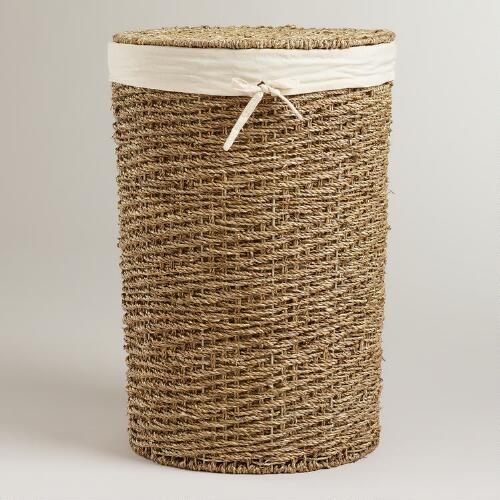 Trista Seagrass Round Hamper