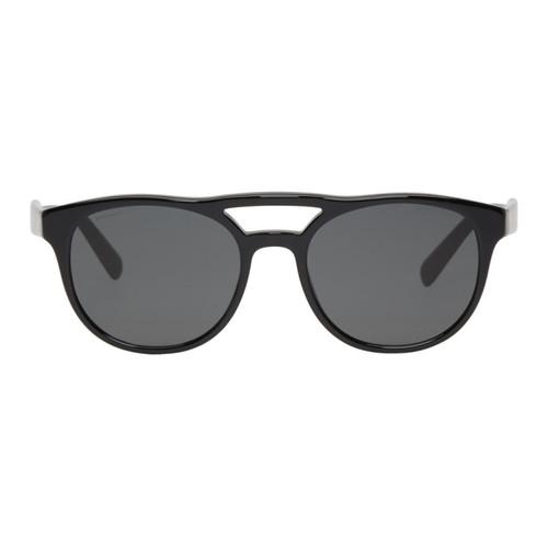 PRADA Black & Grey Double Bridge Sunglasses